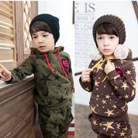 2013 spring children's clothing male female child sweatshirt child set sports set baby clothes