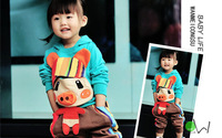 New arrival children's clothing male female child autumn 2013 sweatshirt set baby child casual sports clothes 1 - 6