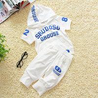 Children's clothing cotton child 100% male female child summer child clothes sports casual t set modal cotton