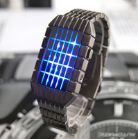 Watch led square grid colorful led watch popular male geomesh watch