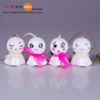 FREESHIPPING Ceramic wind chimes ceramic cute scarf small wind chimes