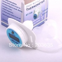 Digital LCD pacifier thermometer baby nipple soft safe,free shipping,