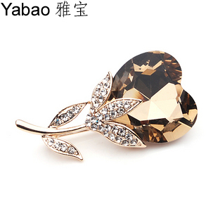 Yapolo full rhinestone brooch crystal brooch pin accessories xz-096(China (Mainland))