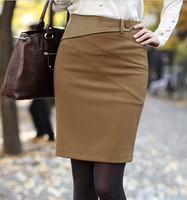 2013 new commuter Korean the woolen Women bust skirt career skirt   q421