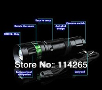7W 700LM Mini LED Torch CREE XT Q5 T6 LED Flashlight Adjustable Focus Zoom flash Light Lamp Free shipping