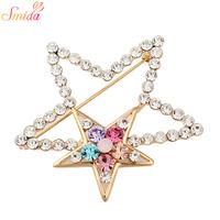 Smida brooch five-pointed star all-match brooch pins lovers design brooch diamond brooch suit