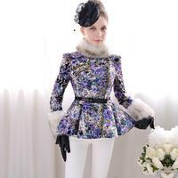 Free shipping Pink doll brand  Polyantha slim woolen women outerwear a q