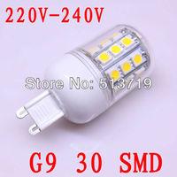 5X 220v-240V Wholesale New G9 30 SMD LED Spot Light Spotlight Warm White Effective Bulb free shipping