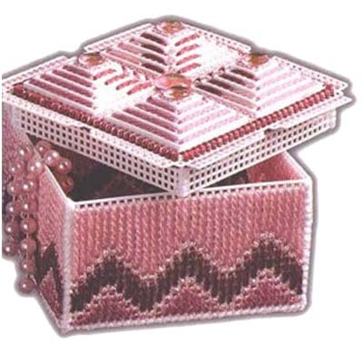 Three-dimensional three-dimensional embroidery cross stitch kit pyramid jewelry box 50 g-043 finished products(China (Mainland))