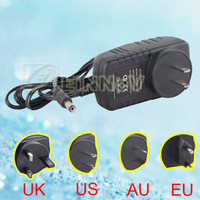 DC 12V/2A USA/UK/AU/EU Plug Power Supply For CCTV Camera PS-01A