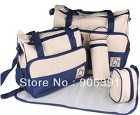 High Quality Tote Baby Shoulder Diaper Bags Durable Nappy Bag Mummy Mother Baby Bag 5pcs/set