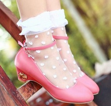 Sweet princess shoes bridesmaid shoes in low-heeled women's single flat shoes 3Colors(China (Mainland))