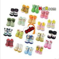 2013 spring Baby Boy& Girls style socks newborn baby socks 0-3 months old Baby socks Size 7-9cm individual Package 10pcs/lot