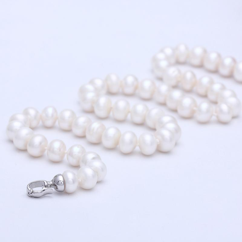 Mariculture natural pearl necklace 9 - 10 glare flawless freshwater pearl light four sides necklace female(China (Mainland))