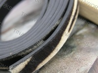 FREE SHIPPING 3Pcs x 1Meter  Real Horse Leather Flat Leather Cord, with Horse Hair 10.0x2.0mm