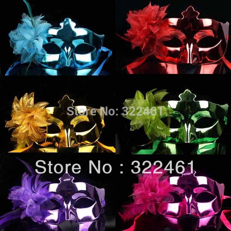 Frete grátis ~ ~ venda 12doz/lot Hot máscara veneziana, máscaras asquerade com flores de lírio(China (Mainland))
