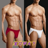 Male men's clothing 100% cotton thong panties seamless panties high fork sexy triangle panties