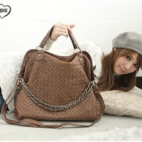 2013 spring female star vintage woven bag chain bag spring  women's bags free shipping
