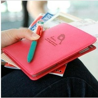 2013 multifunctional leather travel wallet passport holder passport bag short design card holder