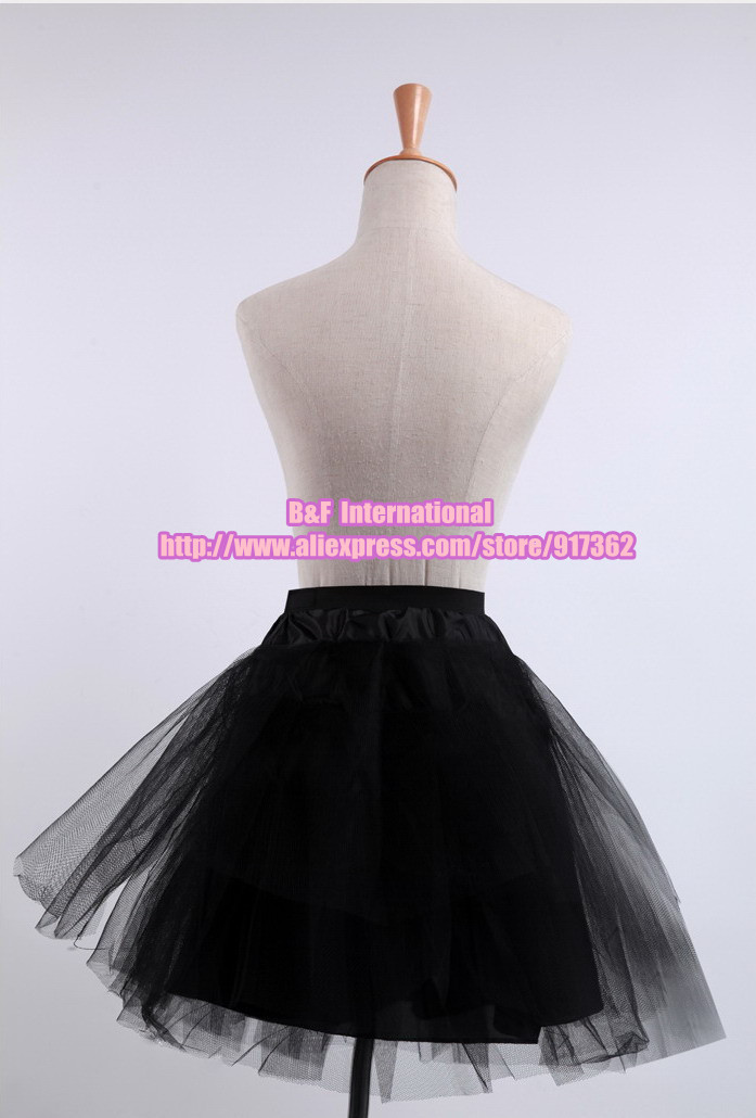 Free Shipping ! Bridal Wedding Accessories,short petticoat,lace crinoline,black pannier,Wedding, Party, Photograph, Show(China (Mainland))