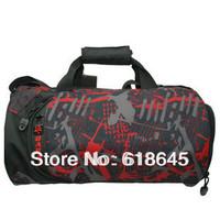 Gym bag sports shoulder bag with independent shoes cylinder handbag for fitness  free shipping