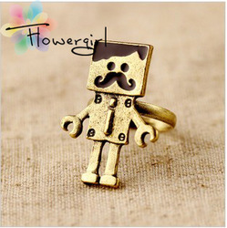 2013 new design fashionable latest finger ring ,mustache beard ring fashion jewelry ring free shipping(China (Mainland))