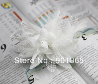 The bride hair accessory marriage wedding bridal hairpin brooch hand flower general hair accessory chromophous 4542