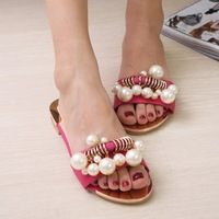 Lo shoes slippers pearl sandals word slippers female shoes