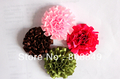 Hair Ribbons Artificial flowers Ribbon fabric flowers  for headbands wholesale 100pcs/lot free shipping