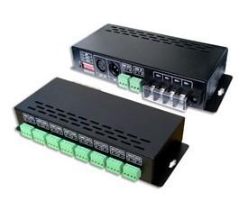 Original LT-880-350 DMX-PWM DMX Decoder,DMX LED DECODER,Input DC12V-DC48V,350mA CC *16CH,output ,o-100 dimming ,1-12 1W led*16ch