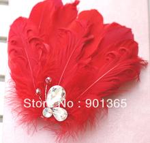 Handmade feather hair accessory style bride hair accessory marriage wedding hair accessory 5442