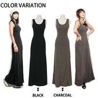 Bohemia women's ultra long one-piece dress spaghetti strap one-piece dress tank full dress