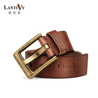 Lantivy/lang's d advanced custom men's imports paste head layer cowhide belt belt LB1003 tree