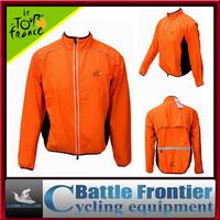 200g orange full sleeve polyster cycling wind rain coat jacket/autumn&winter SM,L,XL,XXL,XXXL windproof waterproof wear clothing