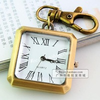 All-match quartz watch nostalgic vintage pocket watch mirror pocket watch square pocket watch