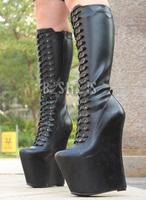 "7 1/2"" Platform Knee Boot, Side Zip,fashion high heel sexy knee high boots Free shipping"