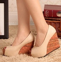 2012 wedges platform high-heeled shoes platform open toe platform shoes fashion sandals female shoes