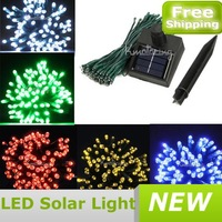 100LED Bulb 18m Solar Fairy Light String Garden Fence Party Lamp Xmas Wedding,Wholesale Party Outdoor Solar LED Light FREE SHIP
