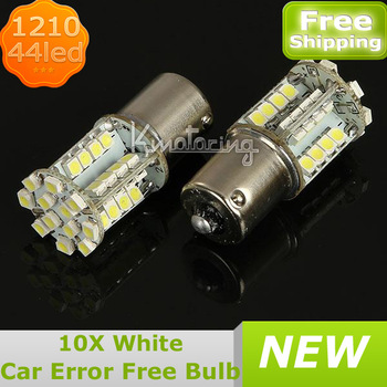 10XCar 1156 BA15S P21W 3528 SMD 44LED Bulb Light Lamp Error Free DC 12V,Wholesale Car Error Free LED Lights FREE SHIPPING