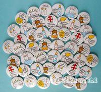 NEW Badge pin Happy birthday party D4.5 45pcs