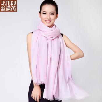 Astory wire velvet women's blending rhinestones large scarf cape gorgeous