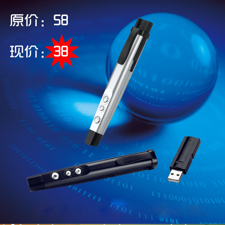 S890 ppt page pen laser pen wireless page pen demonstrator ppt remote control pen(China (Mainland))