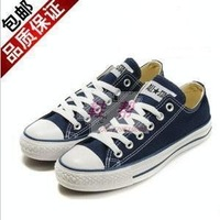 Free shipping 2013 canvas shoes lovers shoes deep blue cloth men's women's shoes