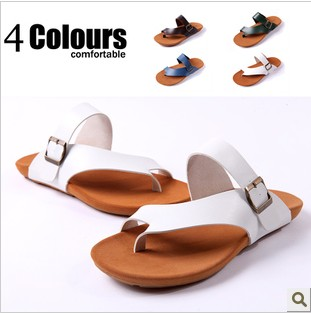 2013 sandals cow muscle outsole slippers sandals male fashion three-color fashionable casual