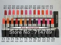 free shipping NEW makeup NEW MATTE LIPSTICK ROUGE LIP STICK  24 colors choose (12PCS/LOT)