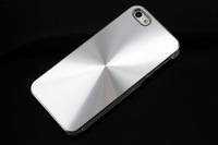 Aluminum Metal CD Pattern Hard Case Back Cover For iPhone 5 SCA-0356