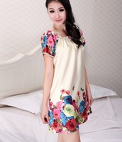 Free Shipping Factory direct imitation silk lovely nightdress fill home furnishing service
