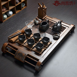 Limited edition big chicken wing wood tea tray yixing kung fu tea set(China (Mainland))