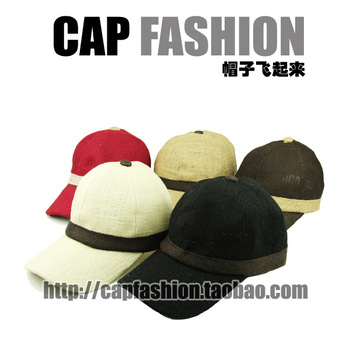Breathable perspicuousness lengthen hat brim lovers design hemp baseball cap