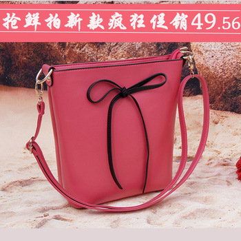 2013 women's handbag bow small cross-body bag fashion women's handbag bucket bag